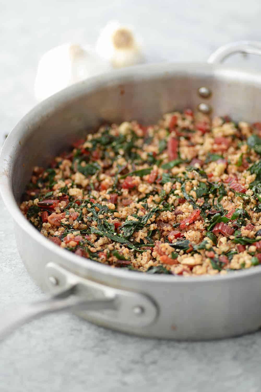 Swiss Chard Ancient Grains Salad
