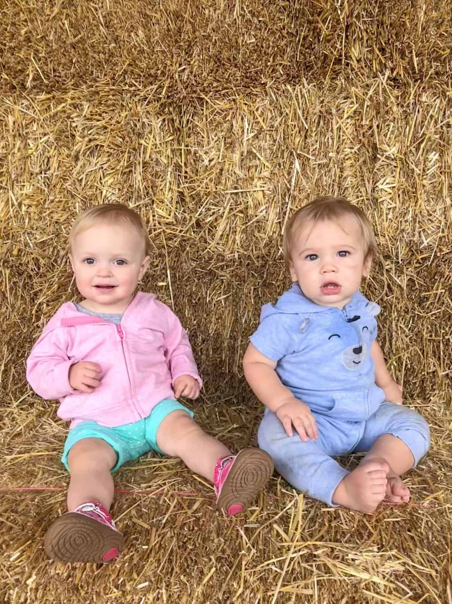 Two babies at Eckert's Farm