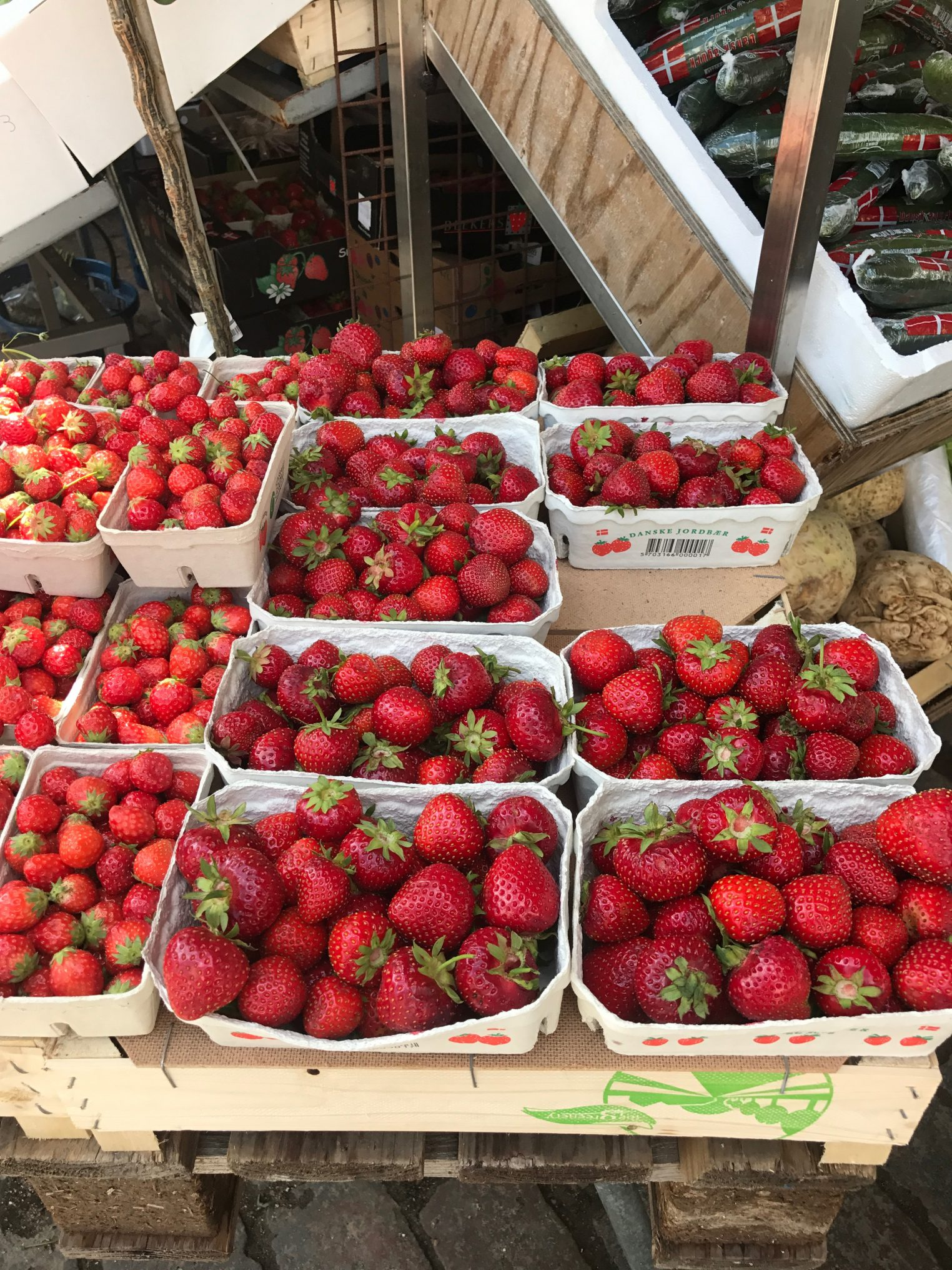 The strawberries in Denmark are some of the best I've ever had. I made it my personal mission to eat a basket daily.