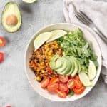 Vegan instant pot burrito bowls