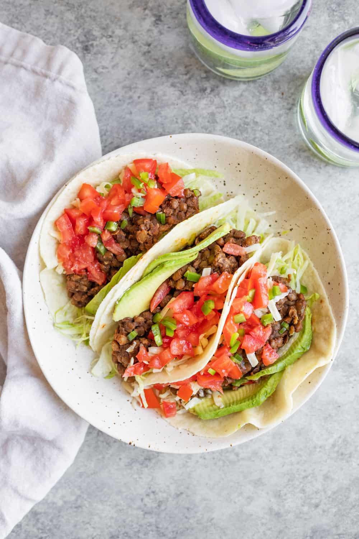 Instant Pot Vegan Lentil Tacos