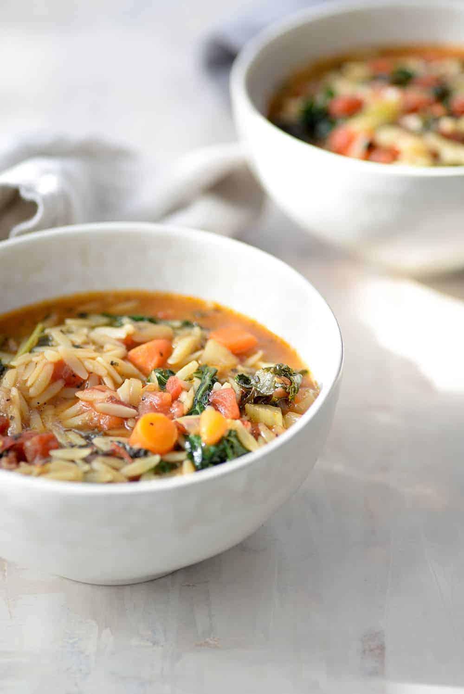 bowl of tuscan kale soup