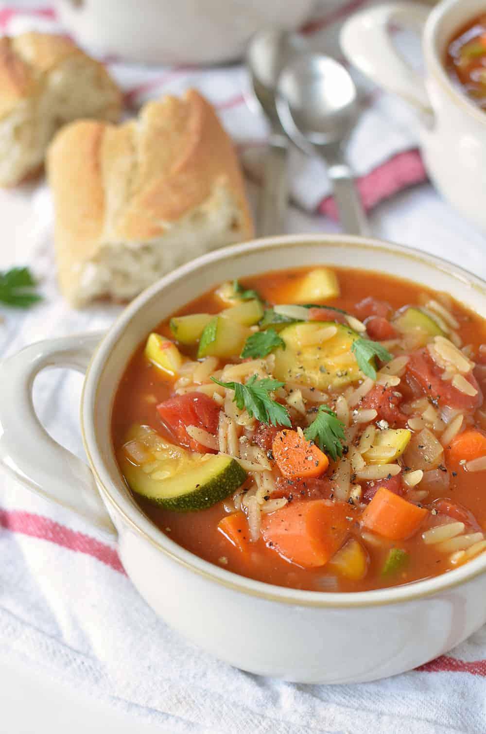 italian orzo soup