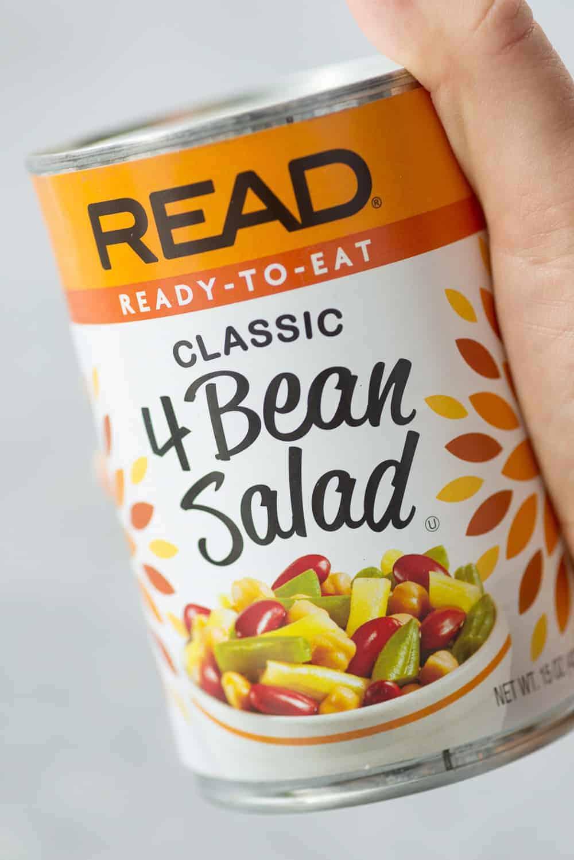 lebanese bean salad bowl