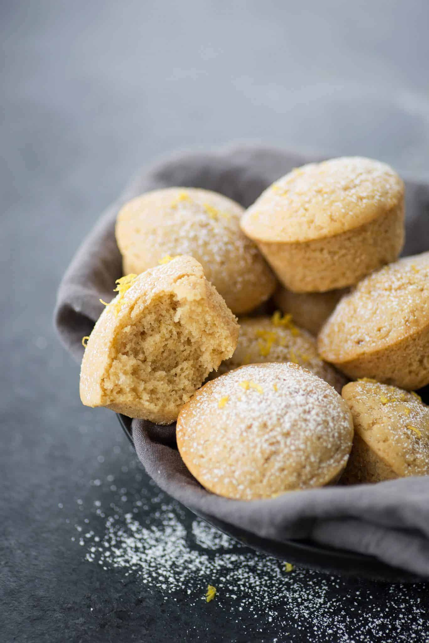 Lemon Olive Oil Muffins! These vegan muffins are incredibly moist and delicious, a must-make for breakfast and brunch. | delishknowledge.com