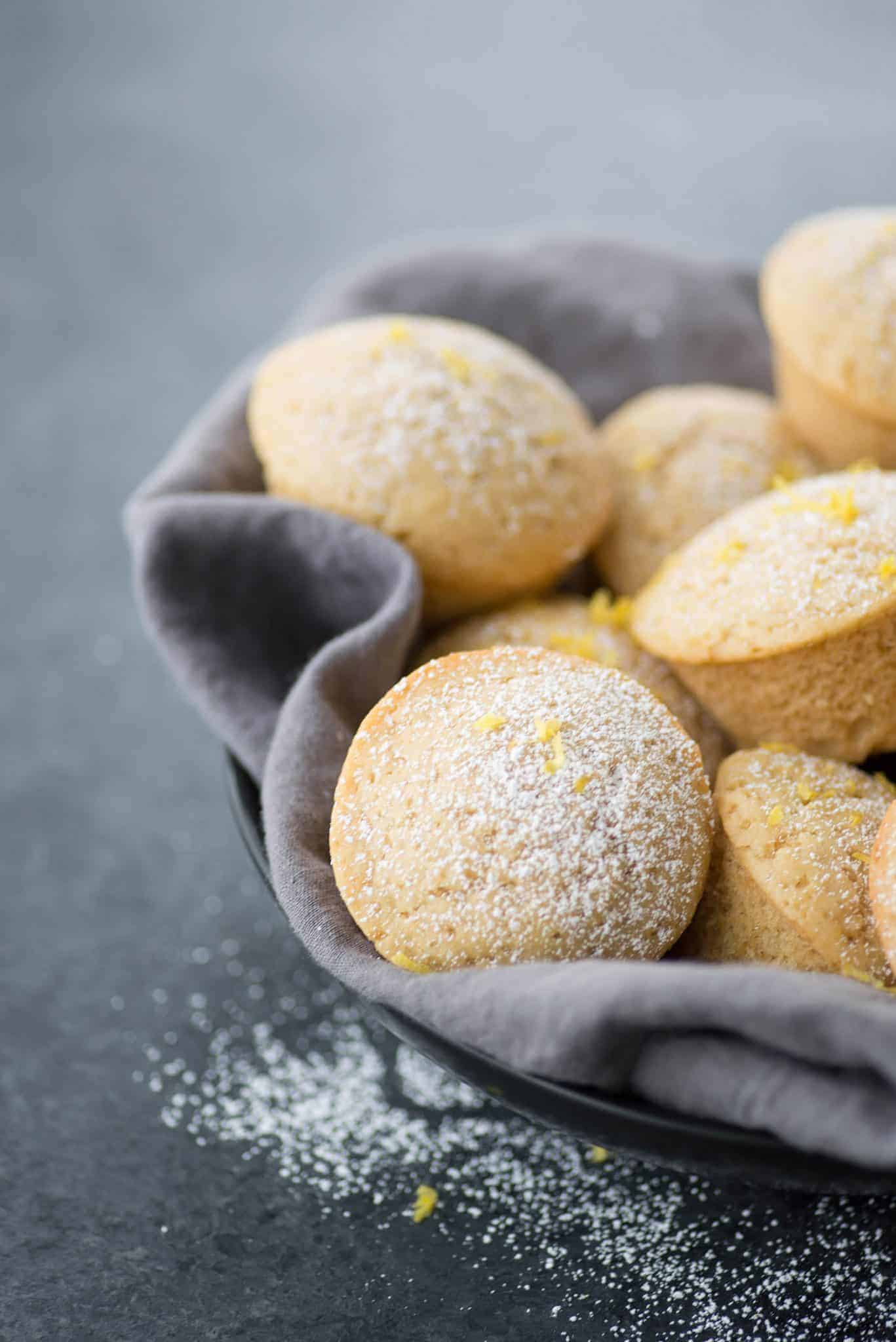 Lemon Olive Oil Muffins! These vegan muffins are incredibly moist and delicious, a must-make for breakfast and brunch.   delishknowledge.com