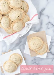 Lentil Hand Pies with Walnut Pesto! Lentil salad stuffed into homemade pie crust. Perfect for picnics, potlucks or lunches! #vegan   www.delishknowledge.com
