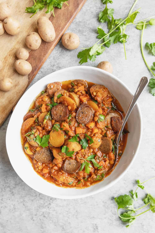 lentil potato and sausage stew