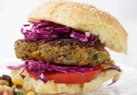 Vegan Tahini Lentil Veggie Burgers