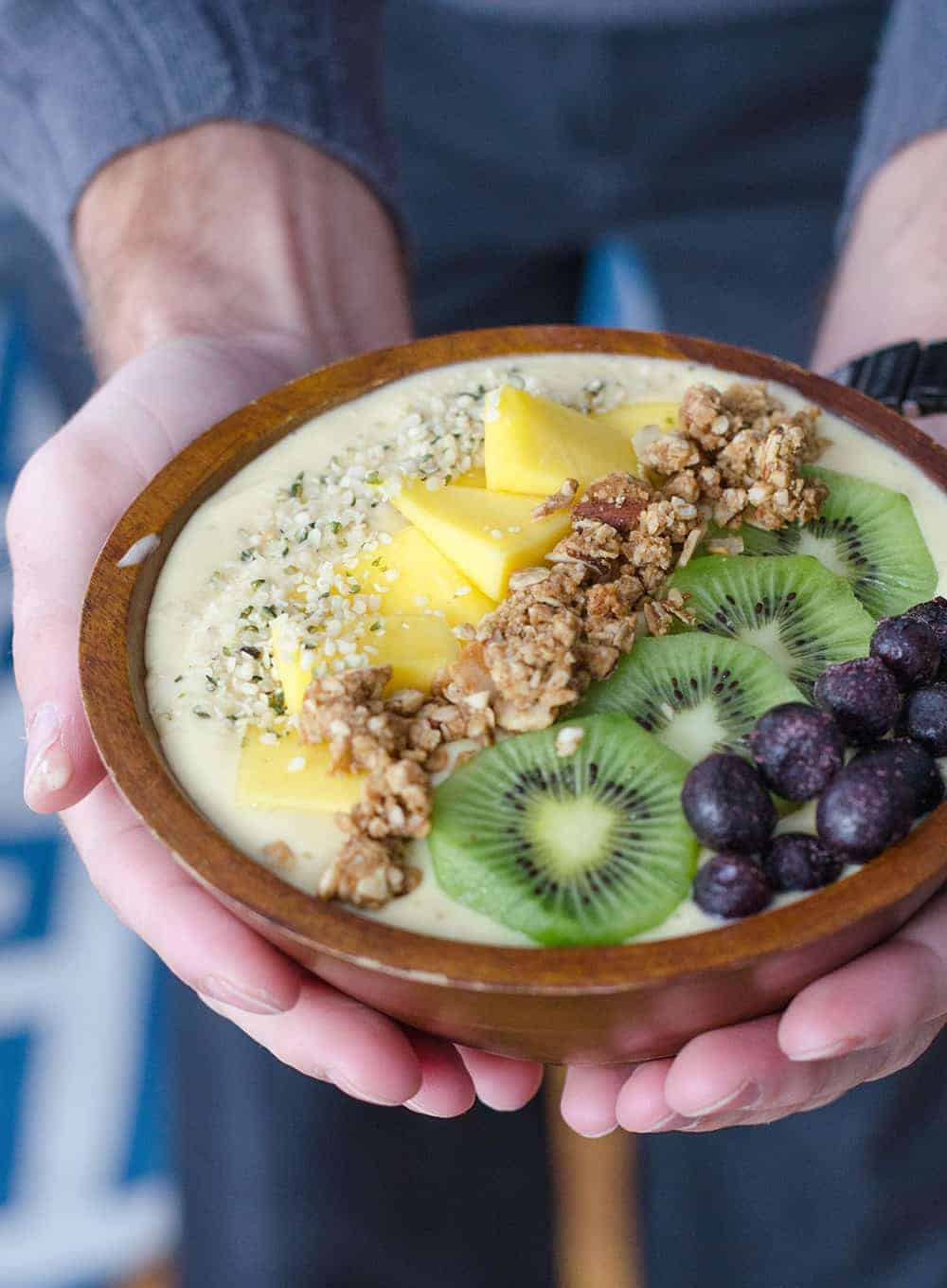 vegetarian protein breakfast bowl