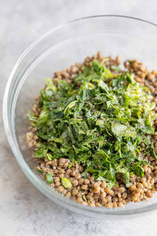 Meal Prep Lentil Salad