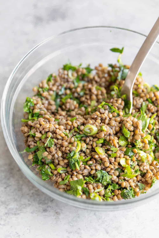 Lentil Salad for Vegan Meal Prep