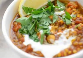 Moroccan Lentil & Chickpea Soup