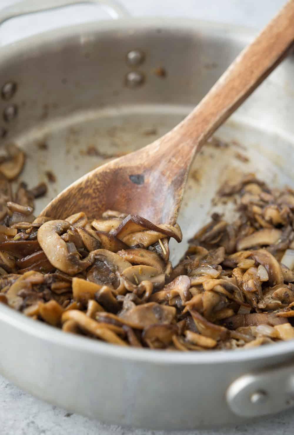 balsamic mushroom gnocchi