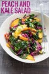 vegan slaw with cabbage and peaches