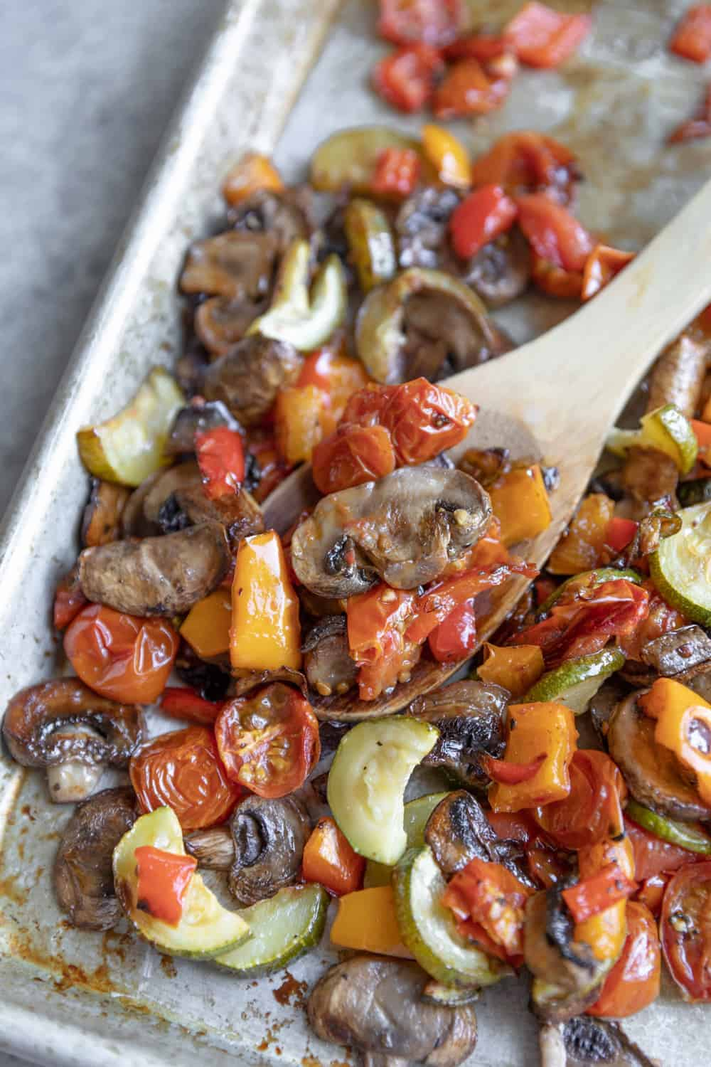 roasted vegetable tray