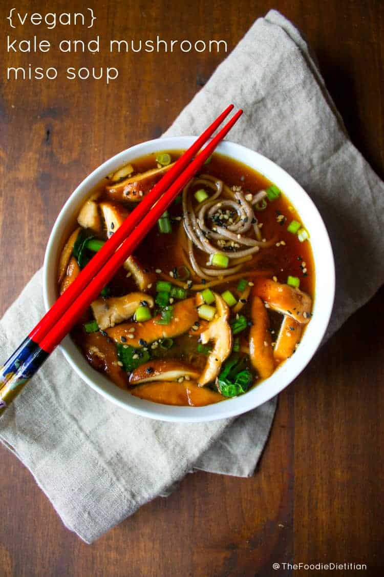 Miso Soup With Tofu And Kale Recipe — Dishmaps