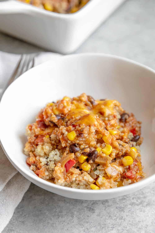 vegetarian quinoa enchilada casserole