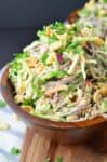 30 minute meal! Rainbow Soba Noodles with Creamy Peanut Sauce! This healthy recipe is soooo good! #vegan | www.delishknowledge.com
