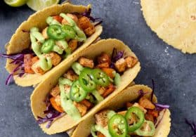 Roasted Butternut Squash and Chipotle Tofu Tacos