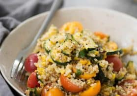 Roasted Zucchini, Corn and Bulgur Salad