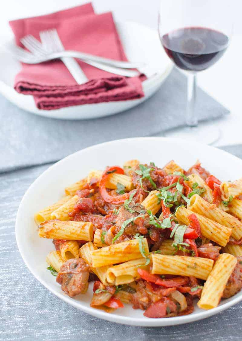 Sausage and Red Pepper Pasta6