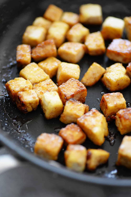 crispy pan fried tofu