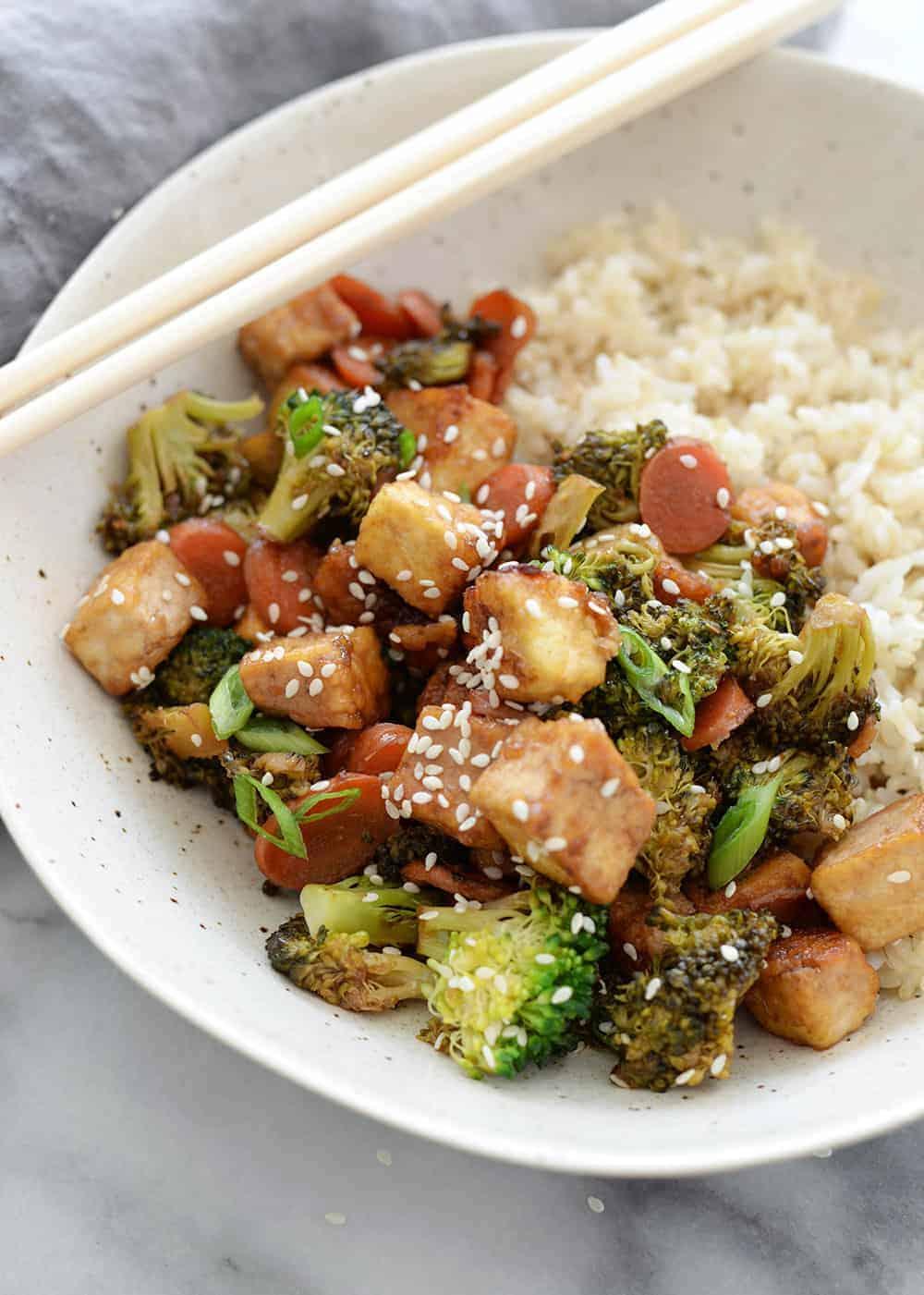 stir fry tofu broccoli and carrots