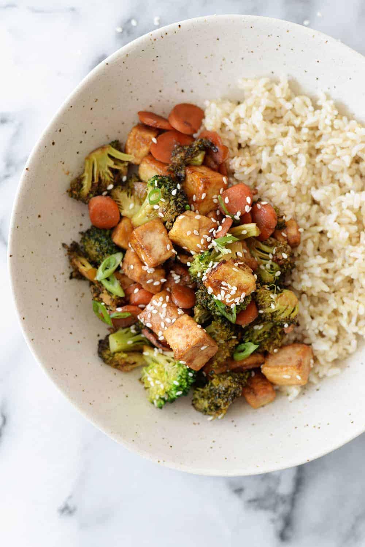 vegan and glutenfree tofu stirfry