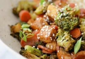 Sesame Ginger Tofu and Veggie Stir Fry