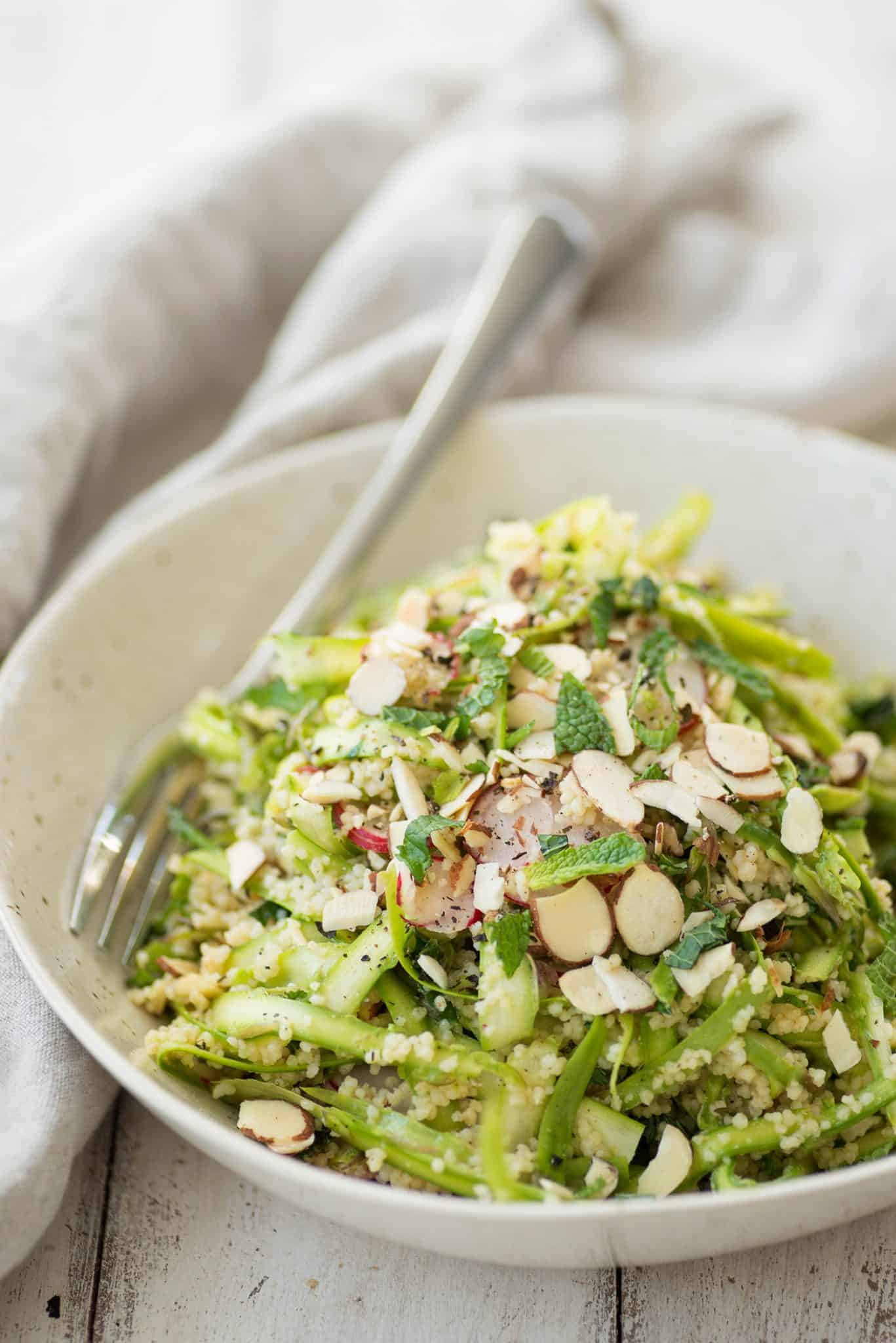 Shaved Asparagus Spring Salad! Perfect for showers, brunch, Easter and more. Vegan. | delishknowledge.com