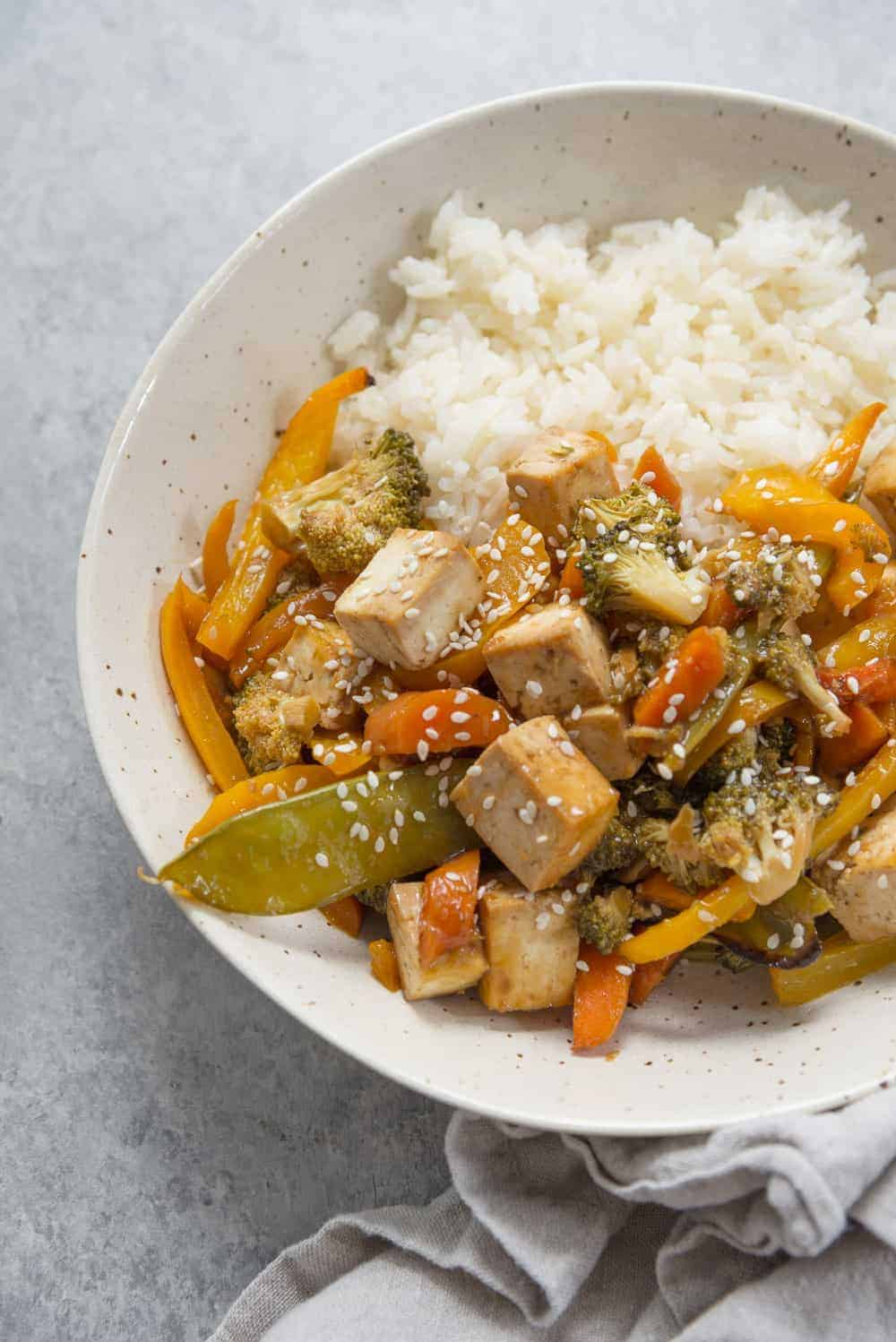 stir fry with tofu and vegetables