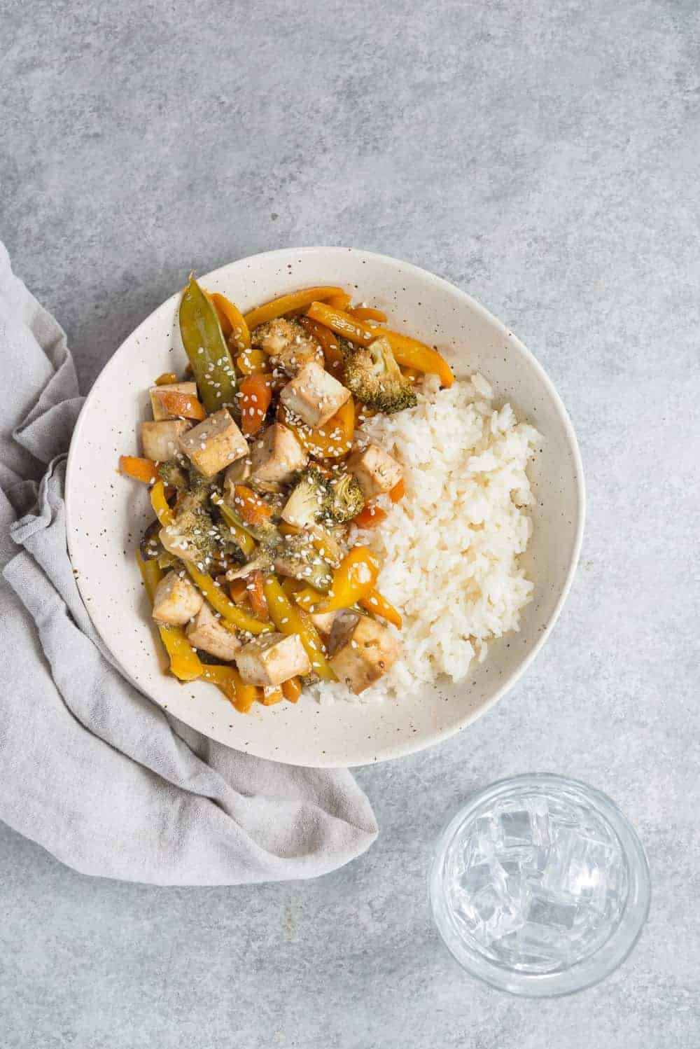 vegan stir fry with tofu