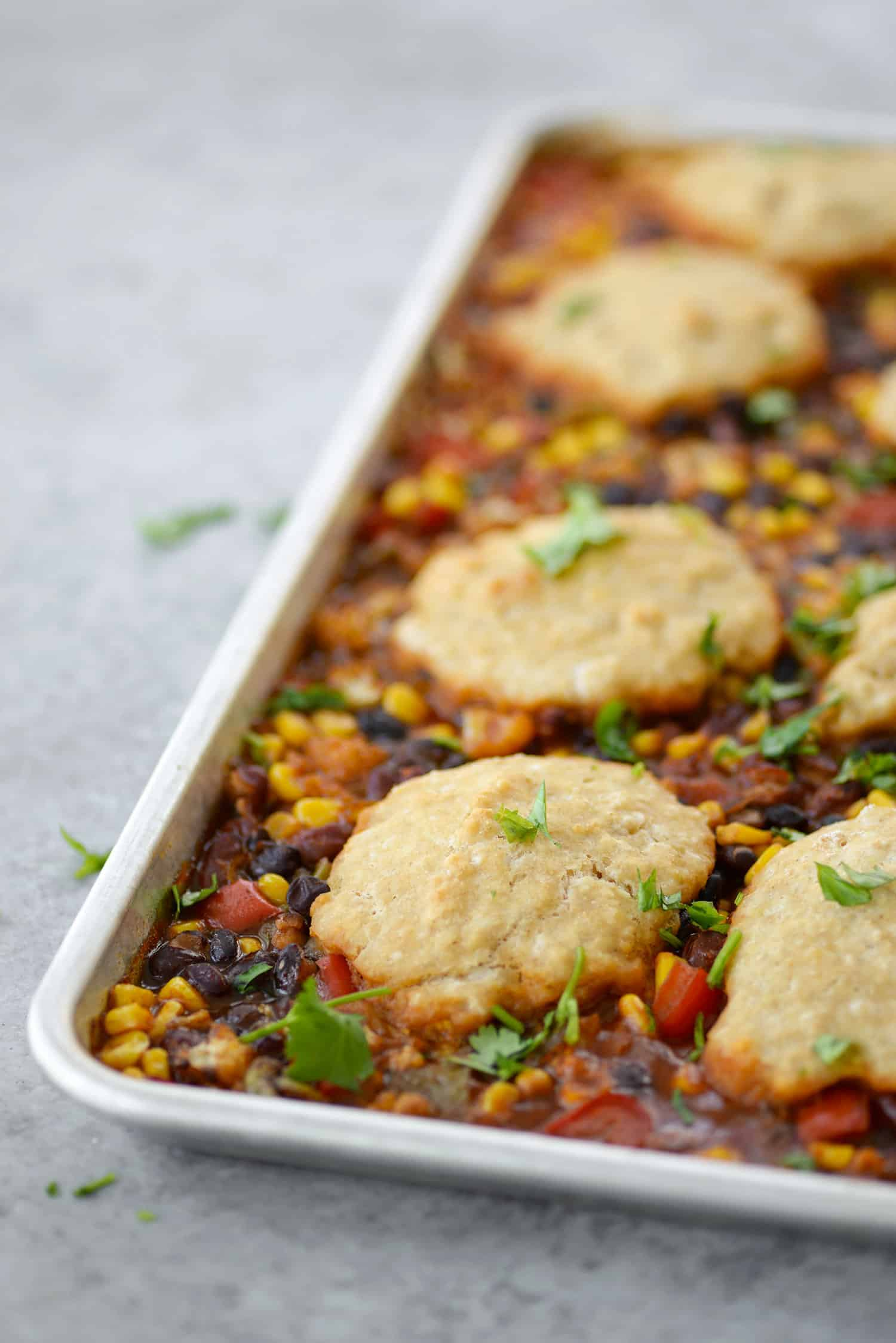 Sheet pan vegetable chili with beer biscuits delish knowledge sheet pan vegetable chili with beer biscuits you will love this all in forumfinder Choice Image