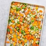 sheet pan vegetable dinner
