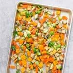 sheet pan vegetable dinner
