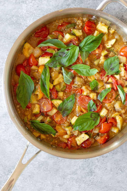 sicilian caponata pasta