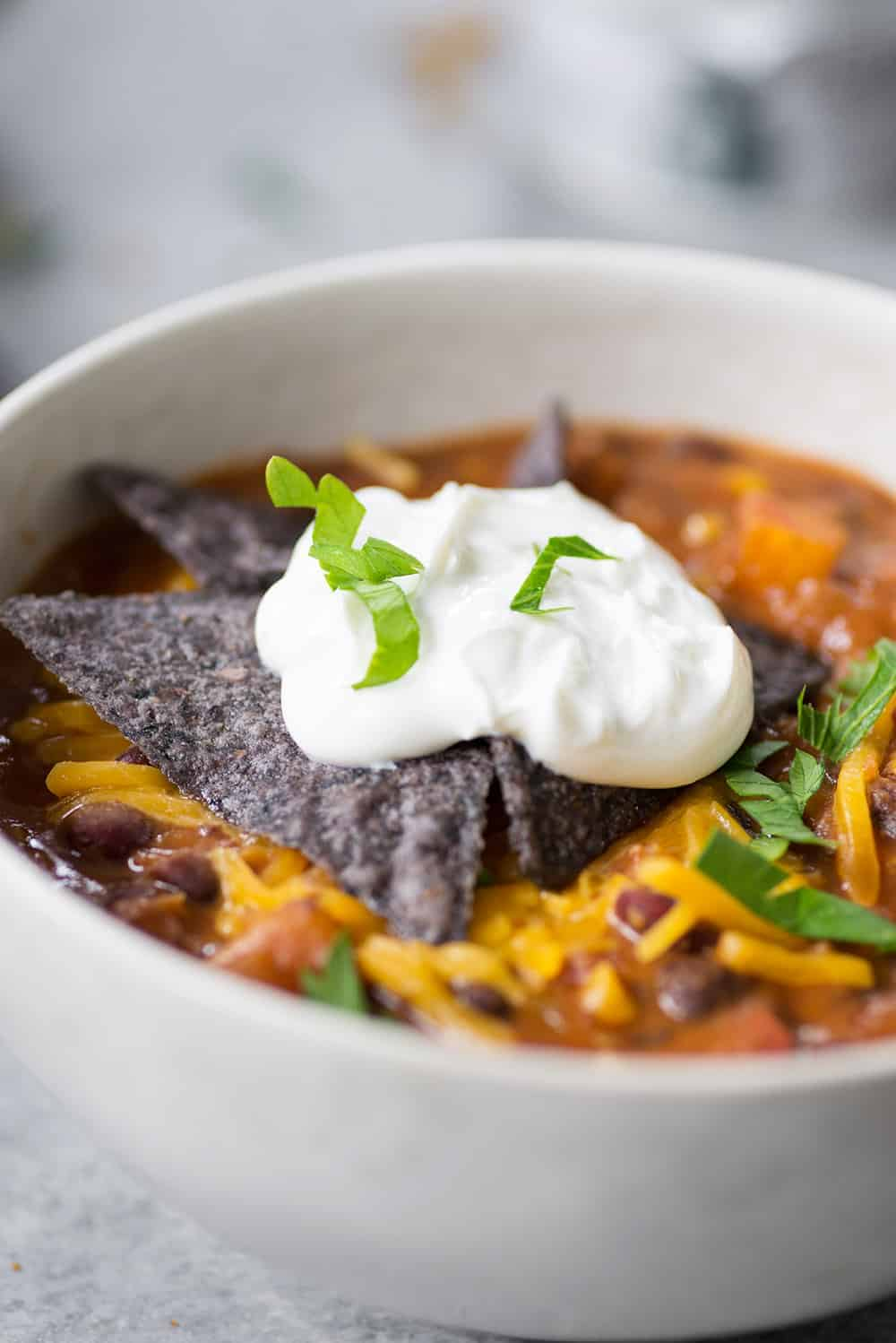 slow cooker vegetarian enchilada soup