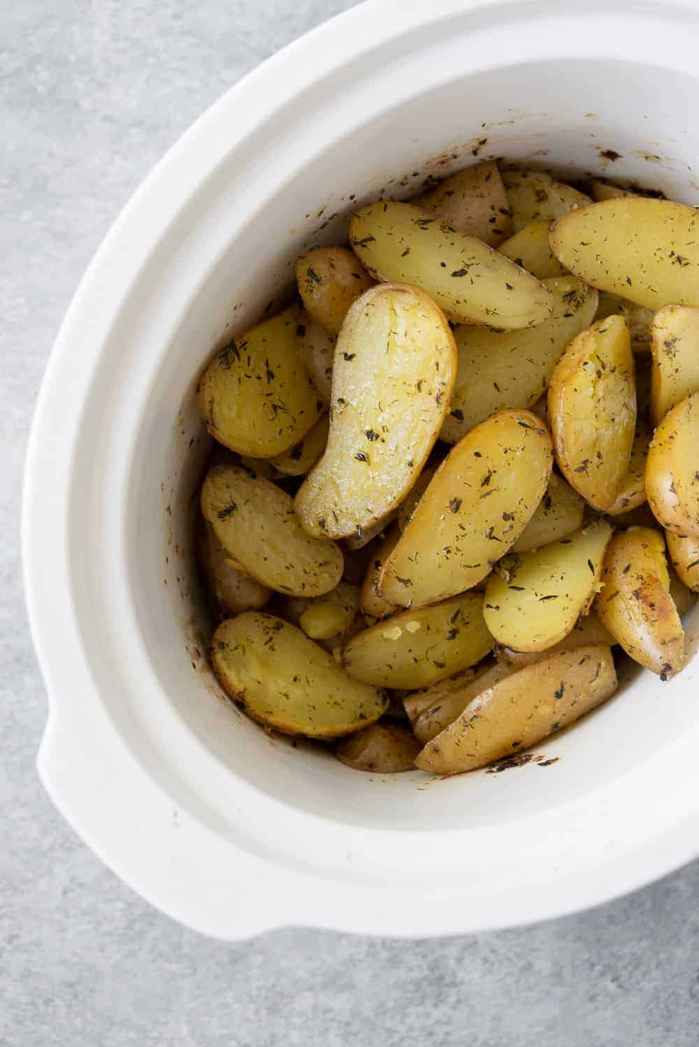 thanksgiving potatoes in slow cooker