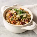 vegetable soup with lentils and pasta