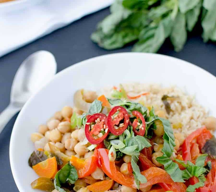 Slow Cooker Vegetable Red Curry