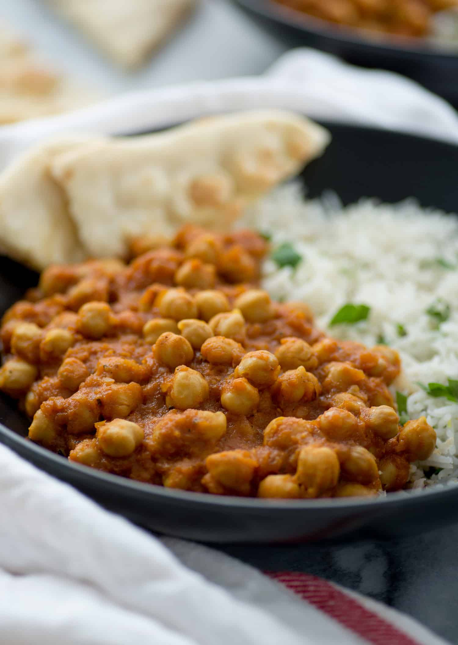 Vegan slow cooker chana masala video delish knowledge slow cooker vegan chana masala chickpeas cooked in a fragrant spiced tomato sauce forumfinder Images