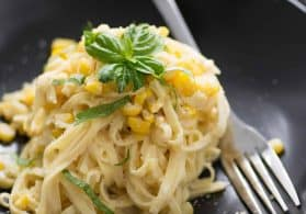 Spicy Corn Linguine