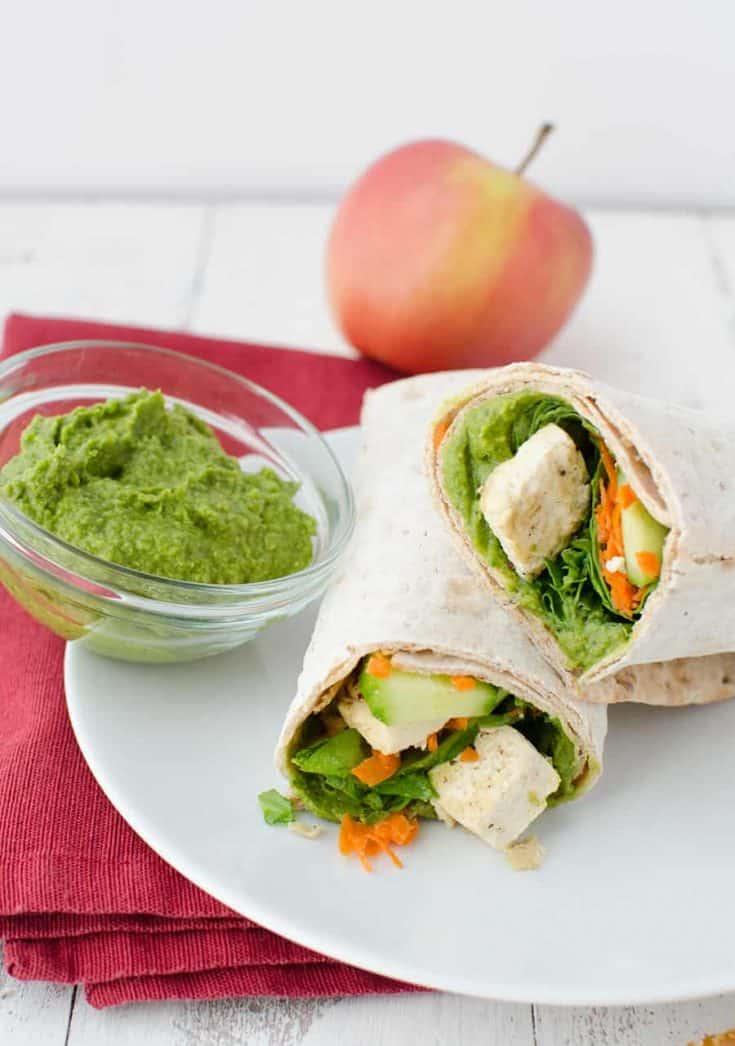 Spinach Hummus Wrap