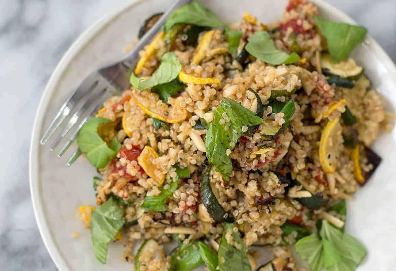 Roasted Summer Squash and Quinoa Salad