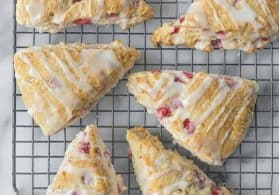Vegan Strawberry Lemonade Scones