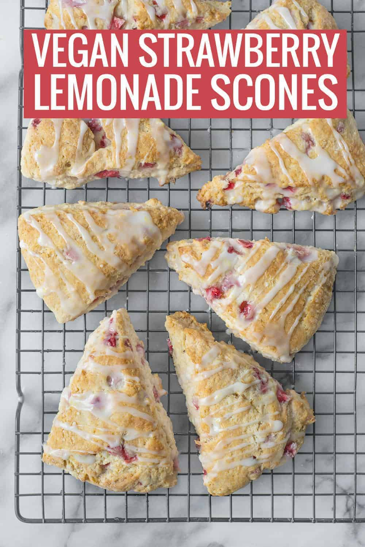 vegan strawberry lemonade scones
