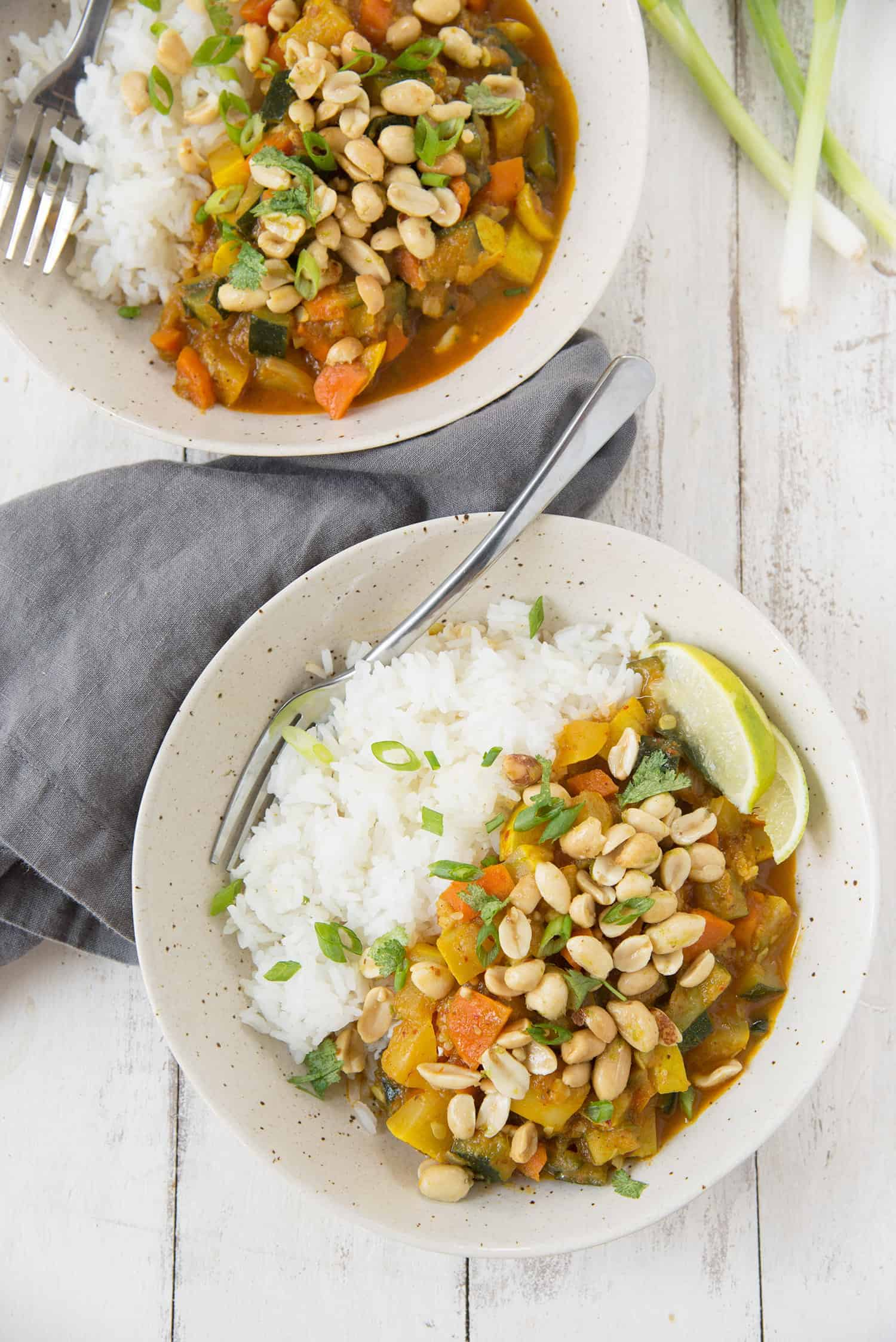 Summer Vegetable Curry! You are going to love this healthy vegan and gluten-free dinner. Packed with zucchini, squash and carrots, served with rice. | www.delishknowledge.com
