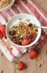 Super Seedy Granola! This #vegan, #glutenfree granola is ready easy to make and healthy! Naturally sweetened with maple syrup. | www.delishknowledge.com