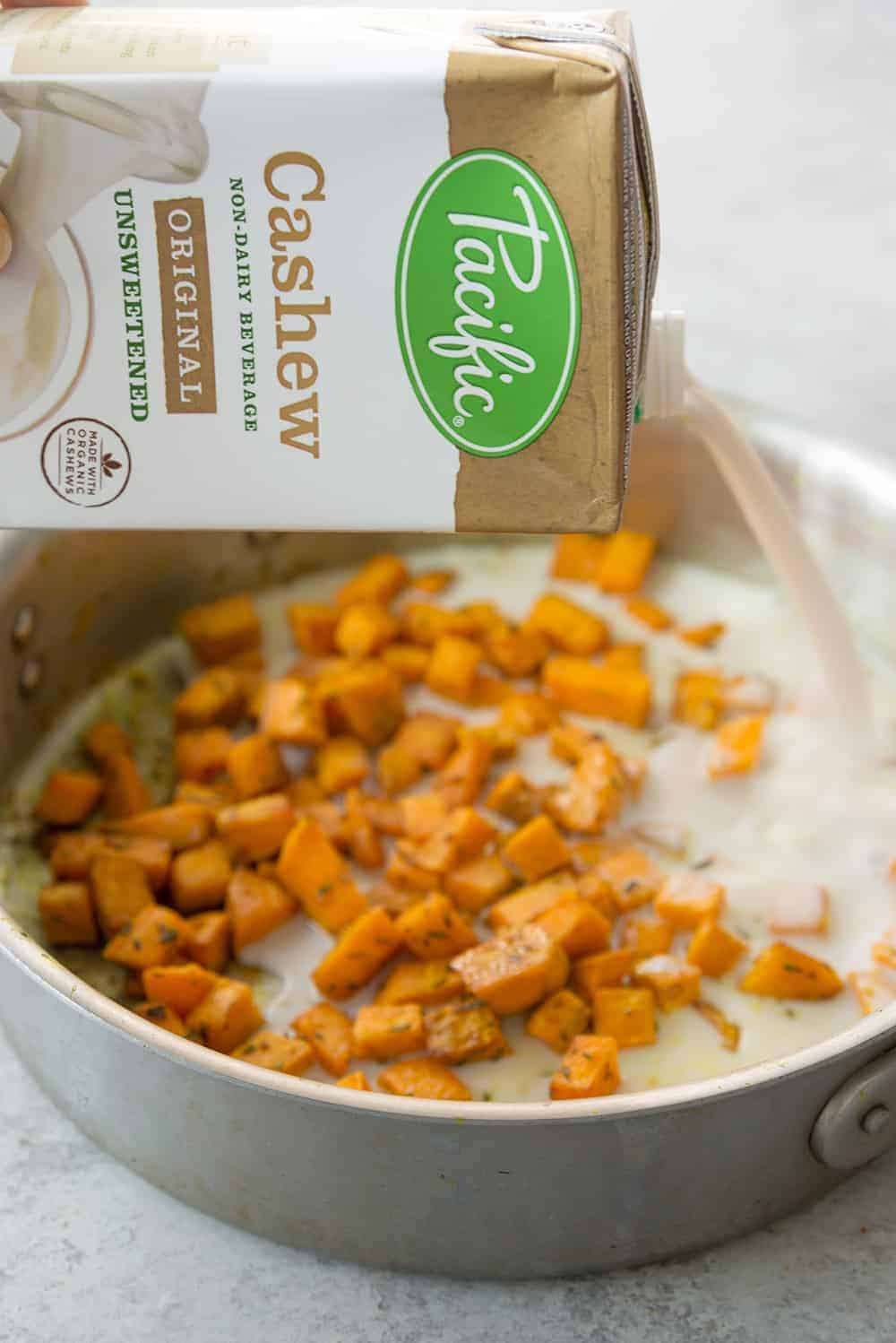sweet potato cheese sauce